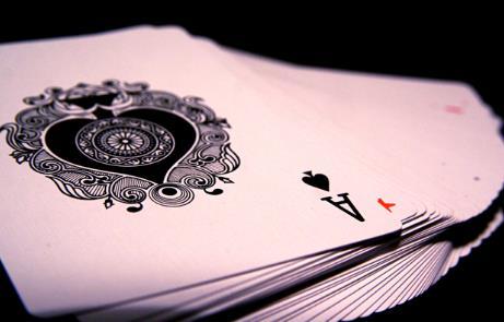 Truco de magia de la carta saltarina